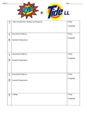 POW+TIDE Mnemonic Graphic Organizer from SRSD