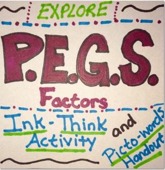 PEGS Ink-Think and Picto-words Handout (Political,Economic