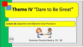 """PPT 5th Gr Grammar Lesson 16 """"Subjective and Objective Cas"""