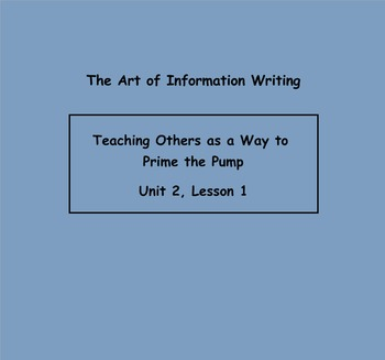 PPT Writing Workshop Lucy Calkins:The Art of Information W
