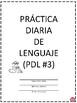 PRACTICA DIARIA DE LENGUAJE NO. 3