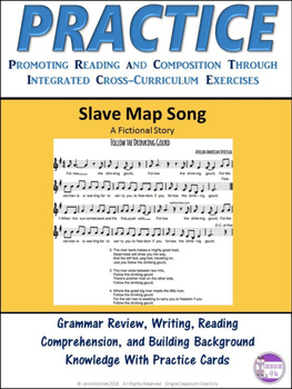 PRACTICE A Slave Map Song Task Cards Activity