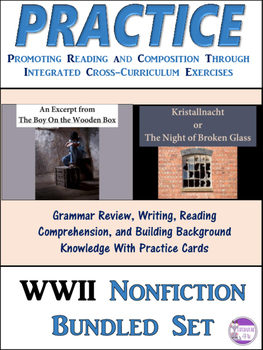PRACTICE Kristallnacht and The Boy On the Wooden Box  Bundle