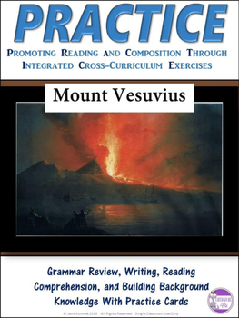 PRACTICE Mount Vesuvius Task Cards Activity