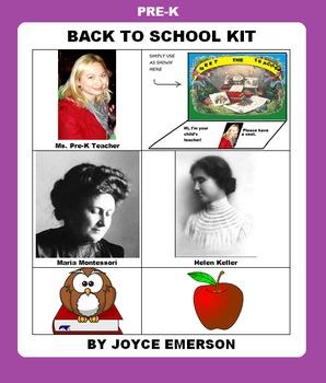 PRE-K BACK TO SCHOOL KIT {LIT, CLIPART ETC HANDY YEAR-ROUN