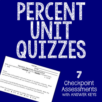 PERCENT Quizzes