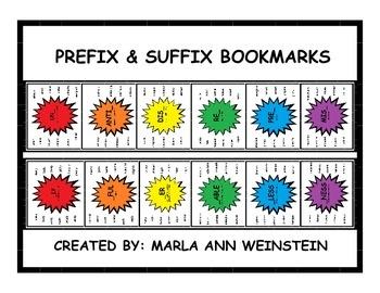 PREFIX & SUFFIX BOOKMARKS
