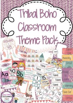 Tribal Boho Classroom Theme Pack