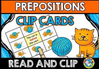 PREPOSITION ACTIVITIES: PREPOSITIONS CLIP CARDS: CAT THEME
