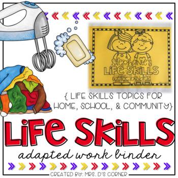 PRESALE Life Skills Adapted Work Binder {Skills for Home,