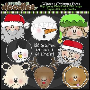 Winter / Christmas Faces  MEGA BUNDLE  ($20 value)