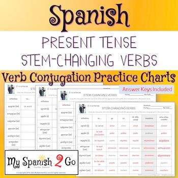 PRESENT TENSE STEM-CHANGING VERBS: Practice Conjugating Ve