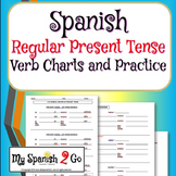 PRESENT TENSE:  Spanish Regular Verb Charts-Guided Notes o