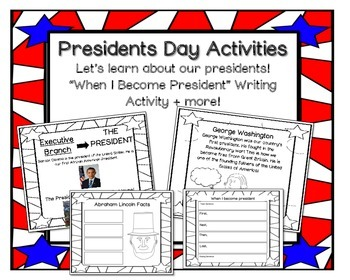 Presidents Day Activities : NO PREP