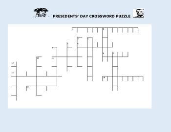 PRESIDENTS' DAY CROSSWORD PUZZLE