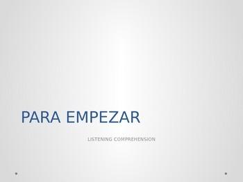 PRETERITO REGULAR. LISTENING COMPREHENSION ACTIVITY. REGUL