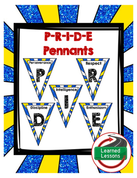 PRIDE Pennants for PBIS posters
