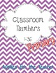PRIMARY Classroom Numbers 1-36