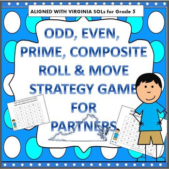 PRIME, COMPOSITE, EVEN & ODD ROLL AND MOVE STRATEGY GAME V