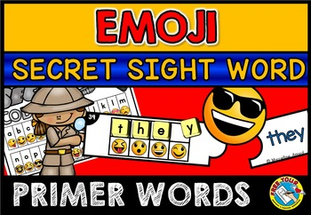 PRIMER SIGHT WORDS ACTIVITY: EMOJI THEME CRACK THE CODE ACTIVITY