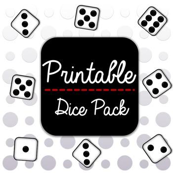 20 Printable Dice Pack