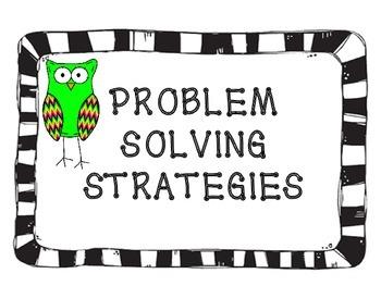 PROBLEM SOLVING STRATEGIES POSTER