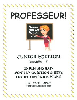 PROFESSEUR - French daily questions for Prof du Jour