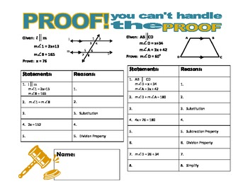PROOF! You  Can't Handle the Proof! (transversals)