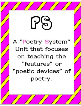 PS:  Poetry System- A Poetry Unit for Kids