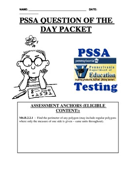 PSSA Question of the Day Packet - Perimeter of Squares & R