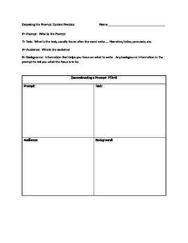 PTA+B  Deconstructing Writing Prompt