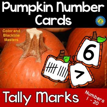 PUMPKIN Math Number and Tally Mark Cards, 1 - 20