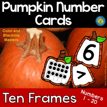 PUMPKIN Math Number and Ten Frame Cards, 1 - 20