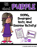 PURPLE ~ Song and Emergent Readers!