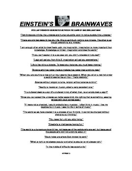 PUT SOME OF EINSTEIN'S BRAINWAVES INTO YOUR STUDENTS' HEADS!