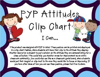 PYP Attitudes Clip Chart - Purple/Blue With Clip Art I Can
