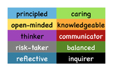 IB PYP Learner Profile and Attitudes Labels