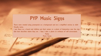 PYP Music Signs