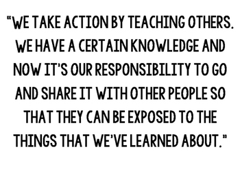 PYP Taking Action quote