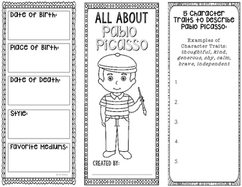 Pablo Picasso - Famous Artist Biography Research Project,