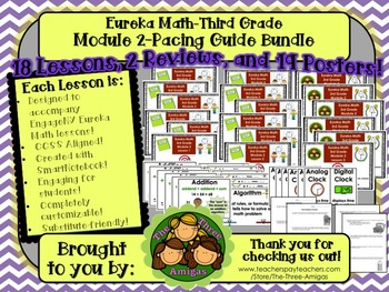 Pacing Guide Bundle Module 2 Eureka Math Third Grade