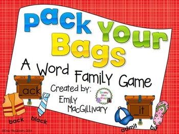 Pack Your Bags: A Word Family Game