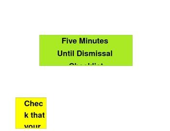 Pack up checklist