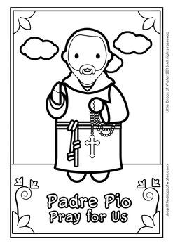 Padre Pio Coloring - Catholic