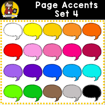 Page Accent Set 4 {Speech Bubbles for CU}
