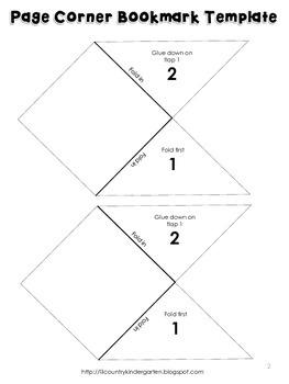 Page Corner Bookmark Template