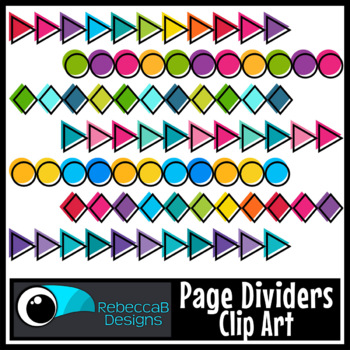Page Dividers Clip Art
