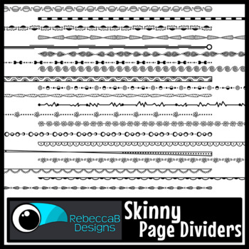 Skinny Page Dividers Clip Art