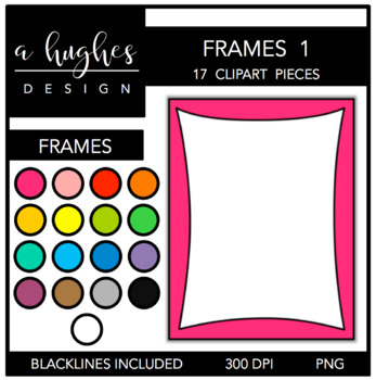 Page Frames Set 1 {Graphics for Commercial Use}