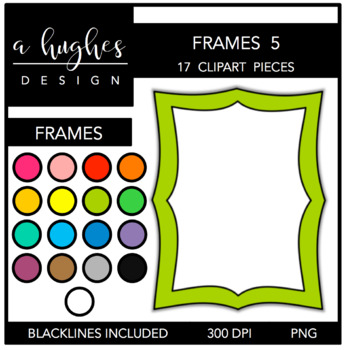 Page Frames Set 5 {Graphics for Commercial Use}